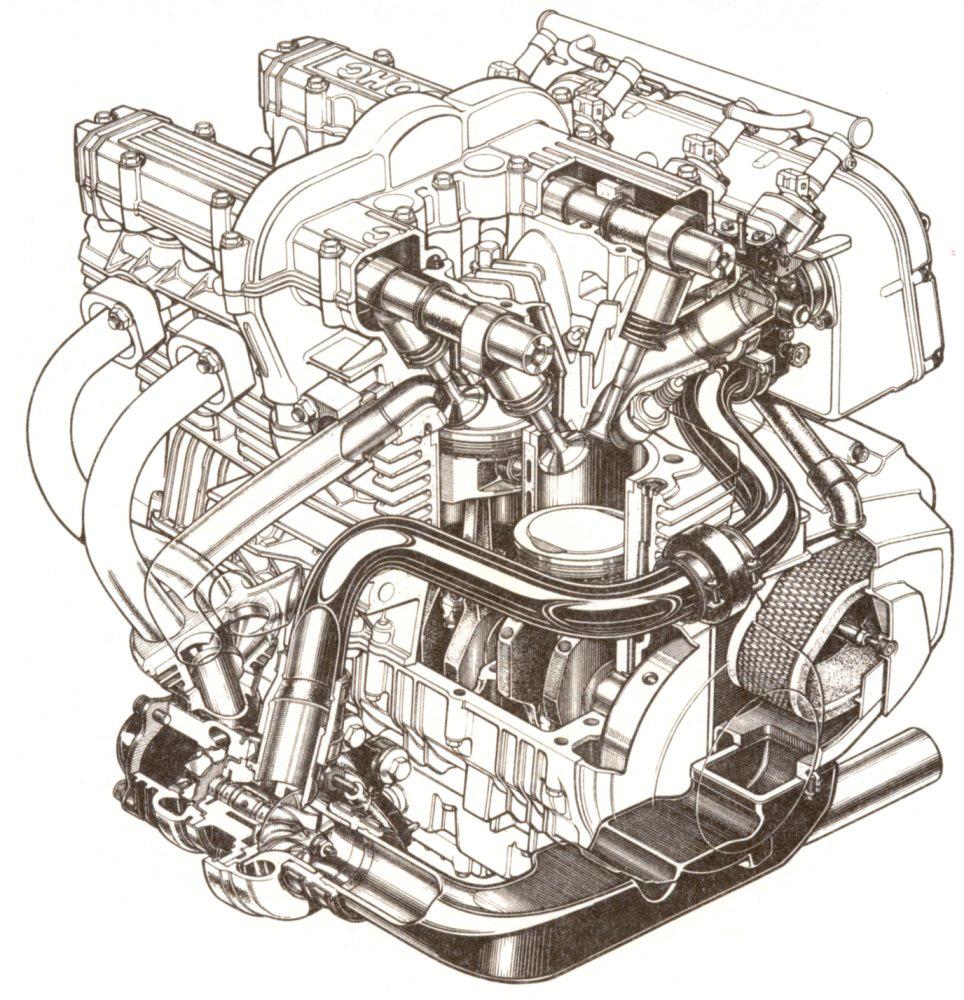 Kawasaki GPz750 Turbo engine