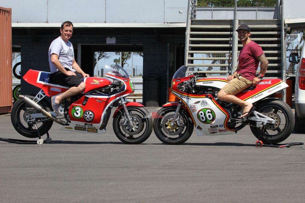 Cameron Donald races Manta Racing XR69 Replica (right)