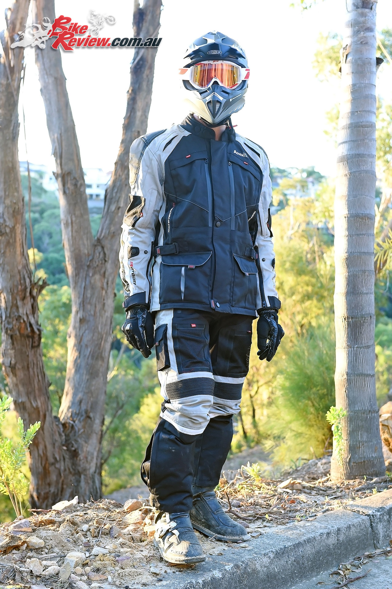 Ben O'Brien, MotoDry Advent Tour jacket and pants, RXT Edge helmet