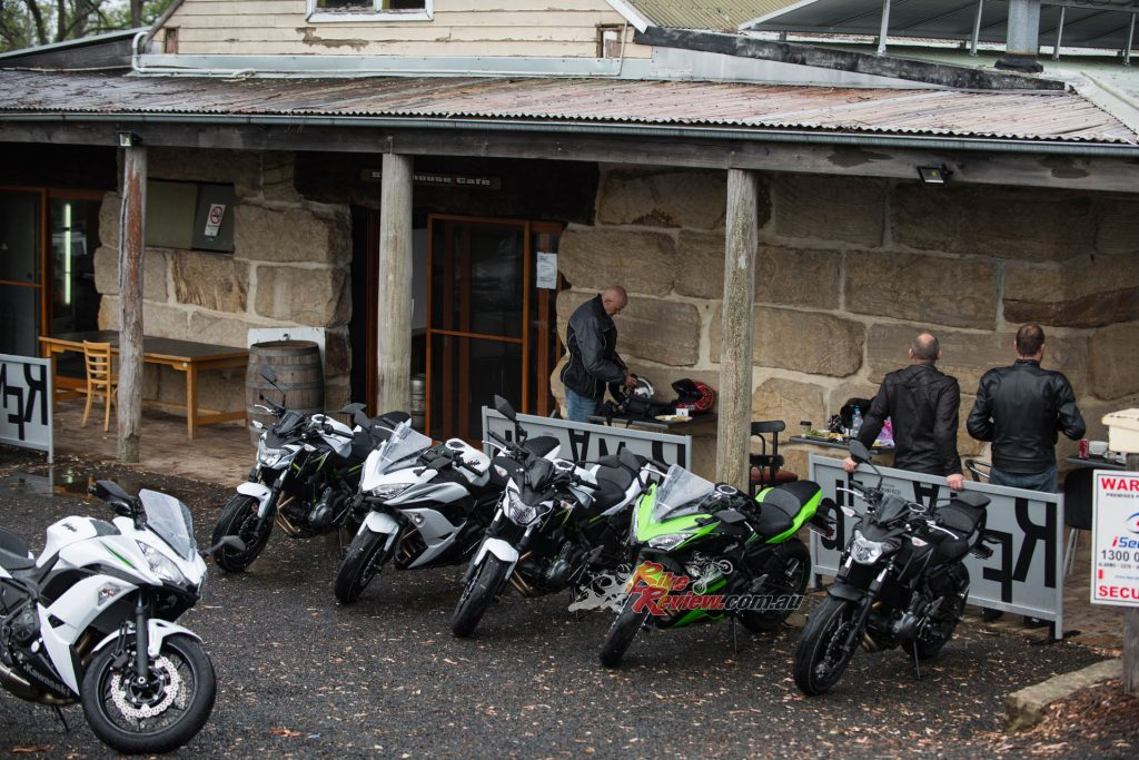 We tested the bikes in dry and wet conditions, which was a good opportunity to sample the bike in real world weather!