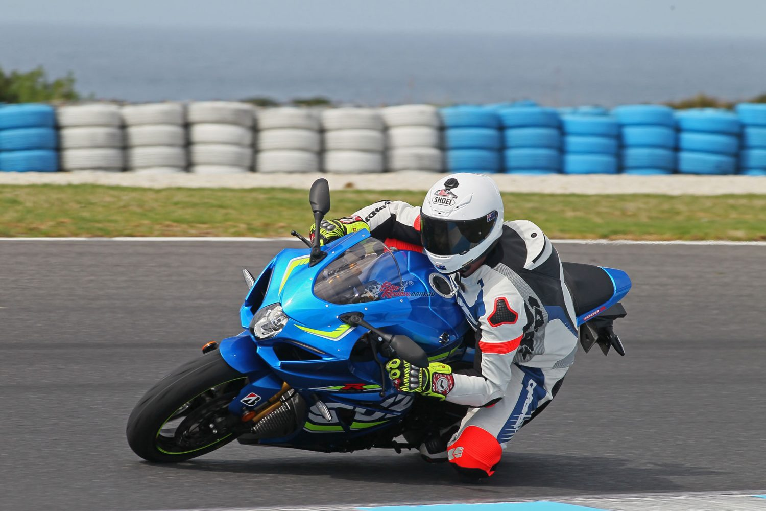 Jeff testing out the Suzuki GSX-R1000R at the recent Australian Launch