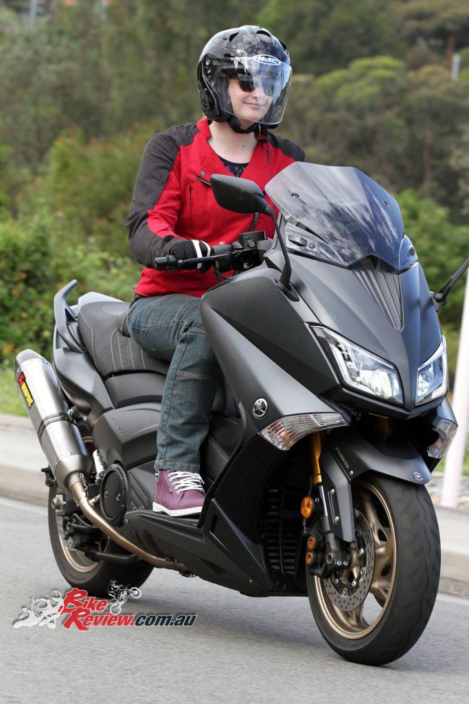 DriRider iRide2 women's boots - Yamaha TMax scooter
