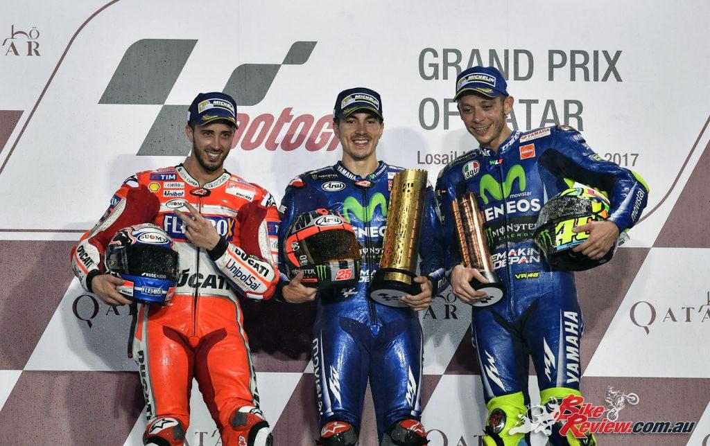 MotoGP 2017 - Qatar Podium