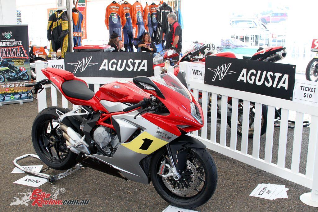 The MV Agusta F3 800 won by Andy Warburton