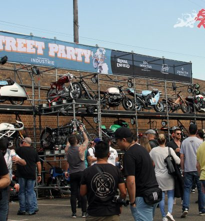 2017 Throttle Roll - The bike display on the scaffolding was smaller than last year but still featured plenty of great machinery