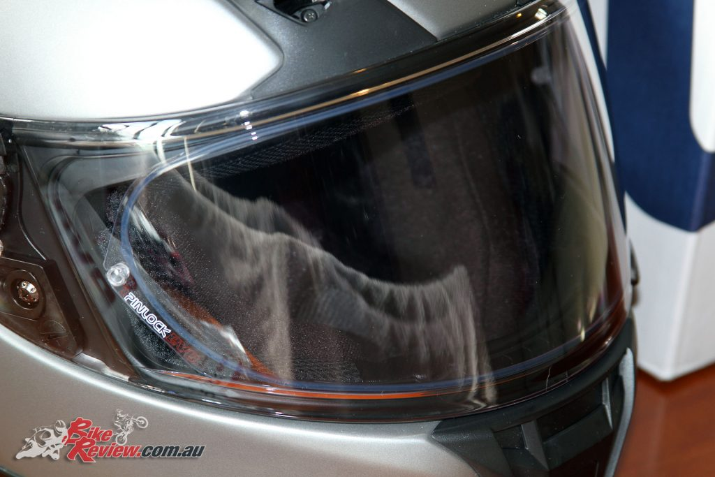 Shoei Transitions Adaptive Shield fitted to the new RYD helmet with Pinlock EVO