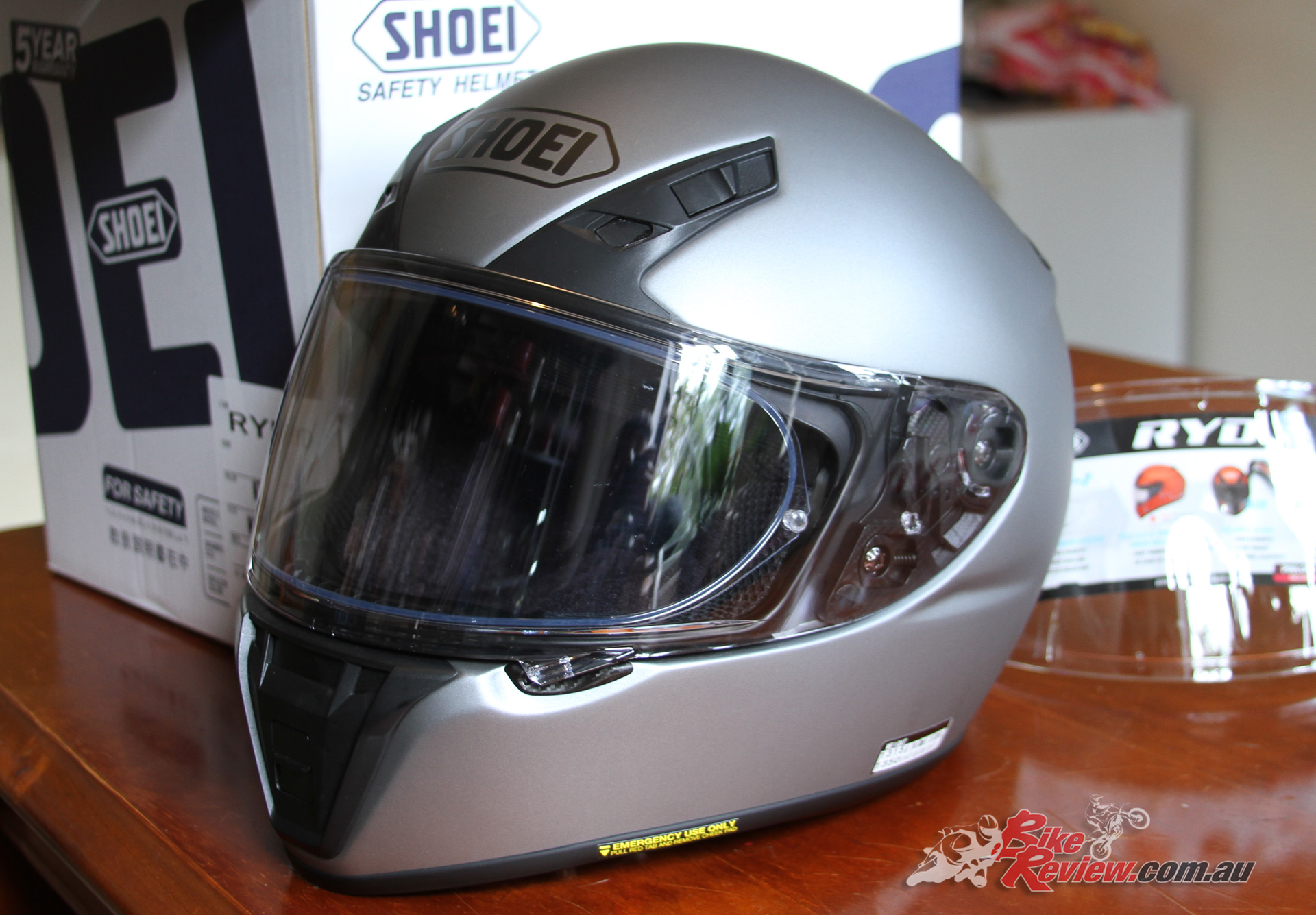 597ed60d Shoei Transitions Adaptive Shield fitted to the new RYD helmet with Pinlock  EVO