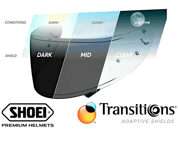 Shoei Transitions Adaptive Shield