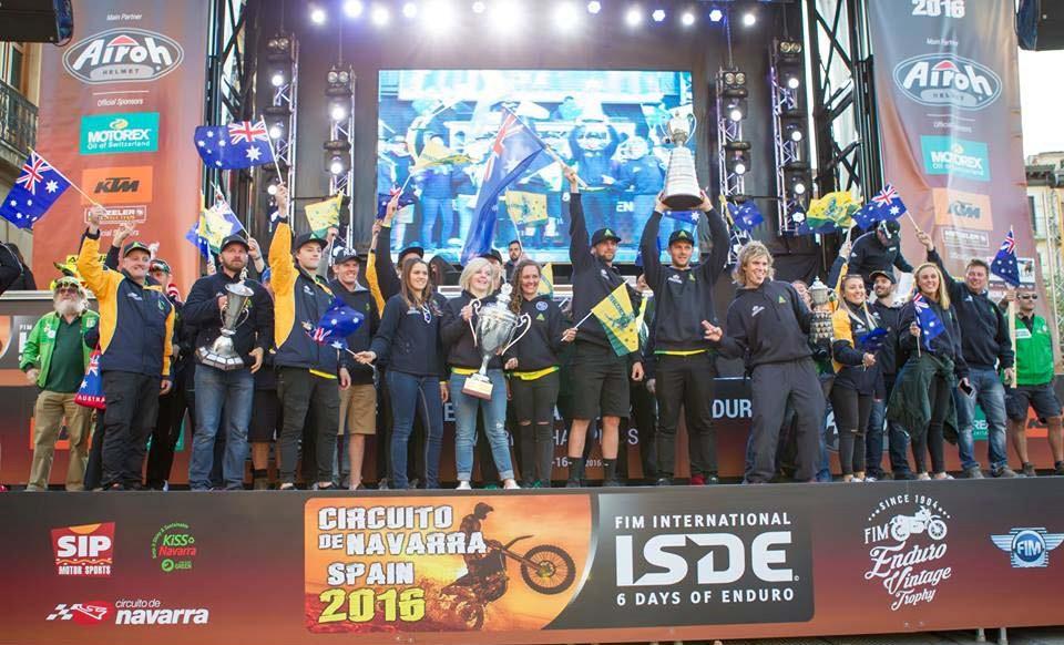 The 2016 Australian ISDE Team
