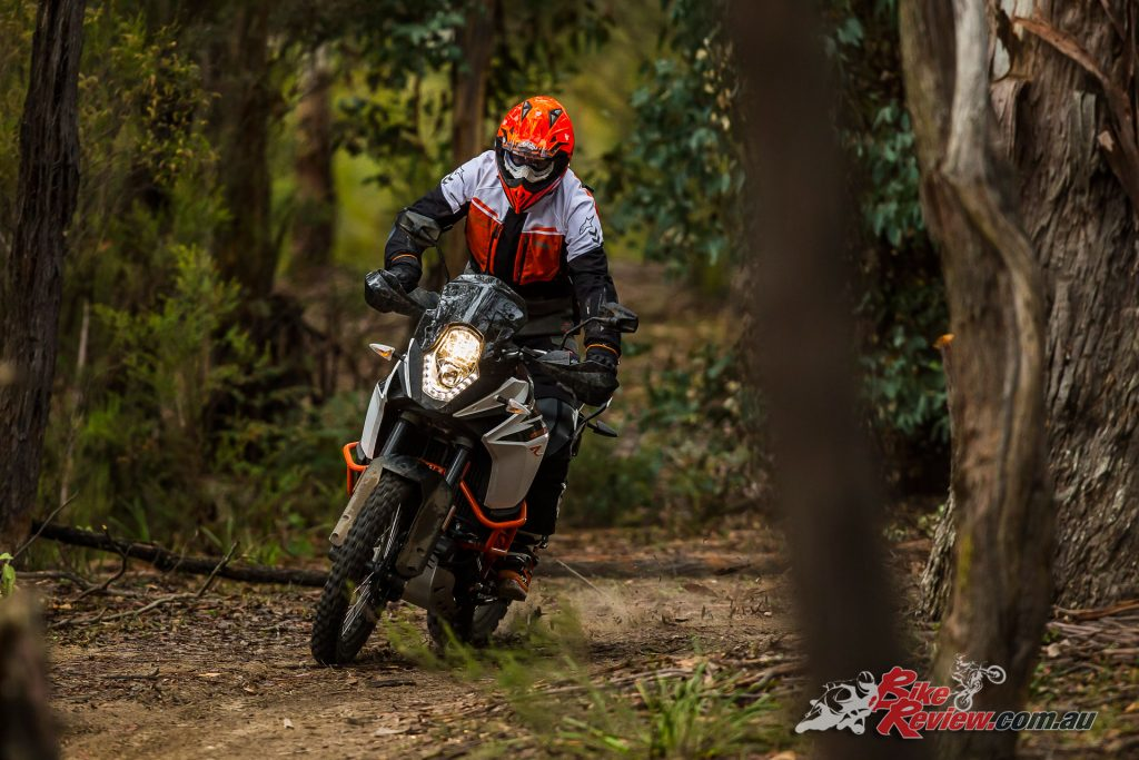 The smaller (1050cc) 1090 Adventure R offers a much lighter feeling package
