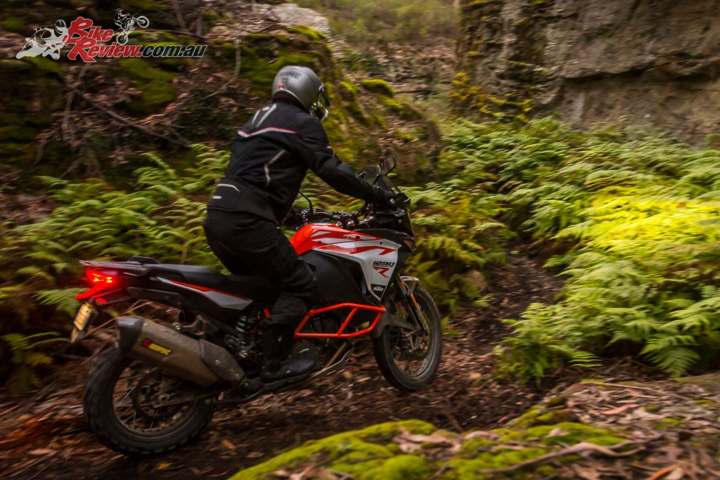 The 1290 Super Adventure R is the more hardcore off-road offering of the two