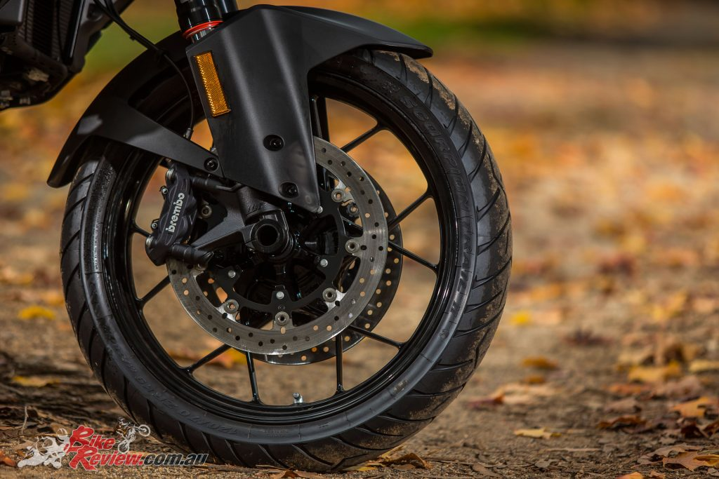 Formidable Brembo brakes ensure the Super Adventure S has plenty of stopping power with switchable ABS as standard