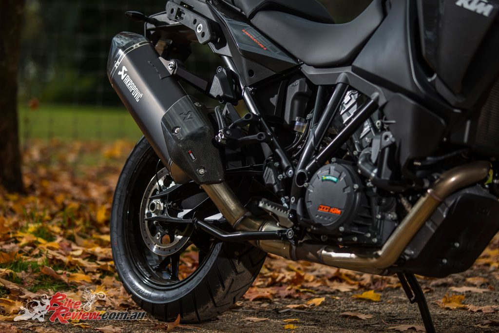All the Super Adventures and Adventures at the Australian launch were fitted with optional Akrapovic exhausts