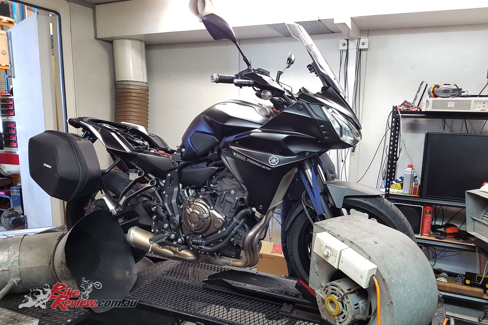 Our Long Term MT-07 Tracer on the dyno at Sydney Dyno