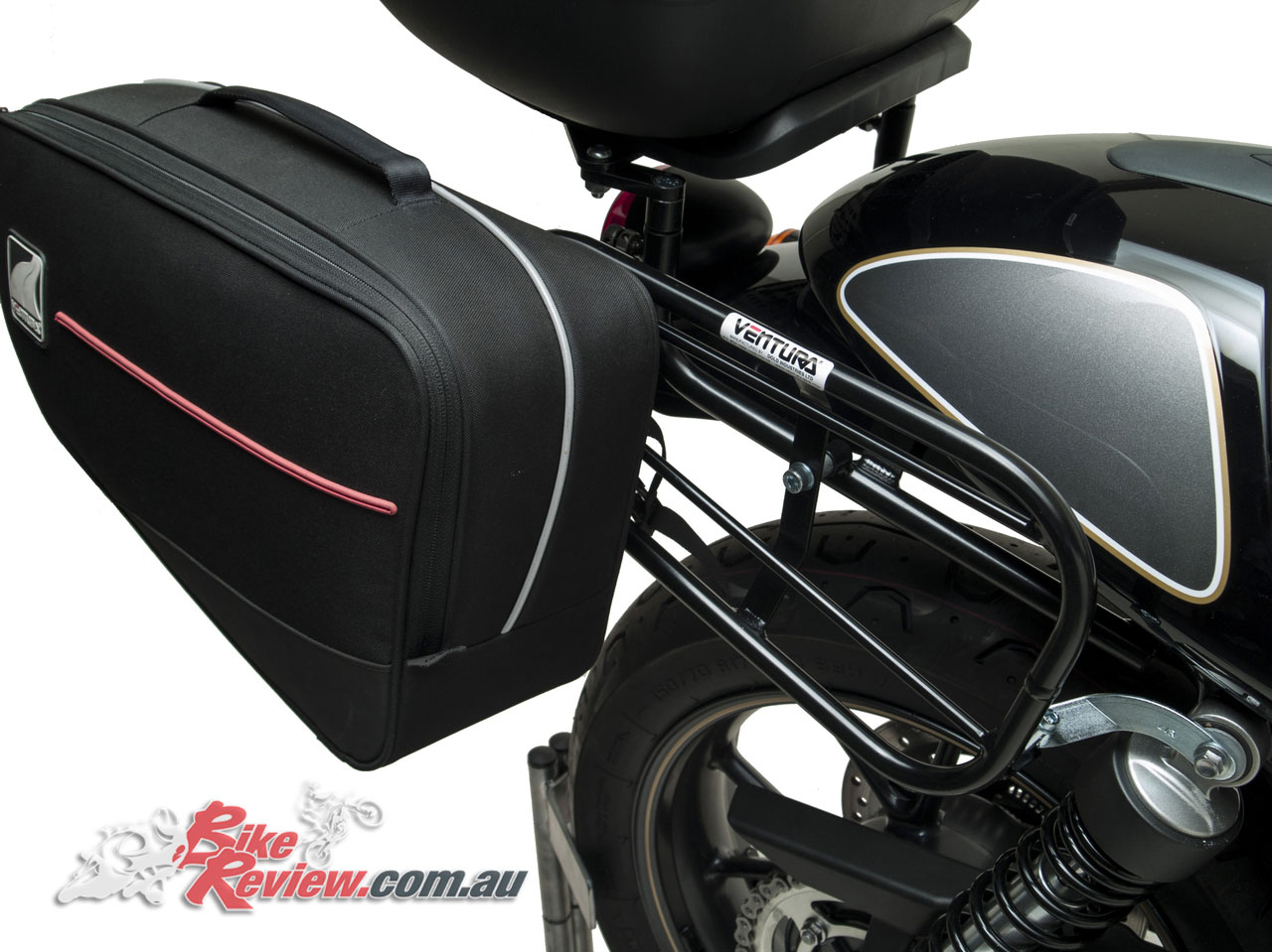 Ventura Luggage - Street Cup with Astro top box fitted along with Bonneville panniers
