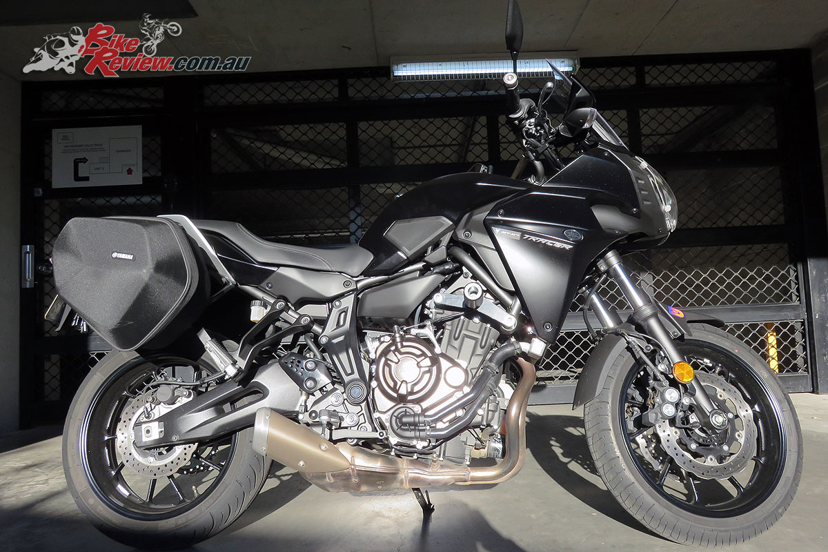 Our Long Term Yamaha MT-07 Tracer with the Oggy Knobbs fitted