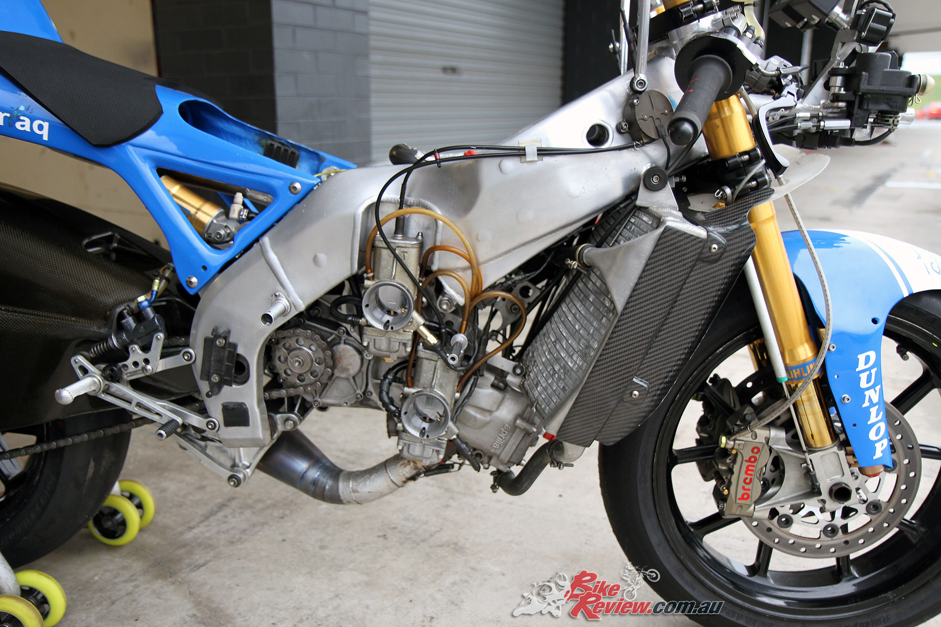 In all its glory - The Aprilia RSW250 with 42mm VHSE flat slide magnesium carburettors are rare and expensive