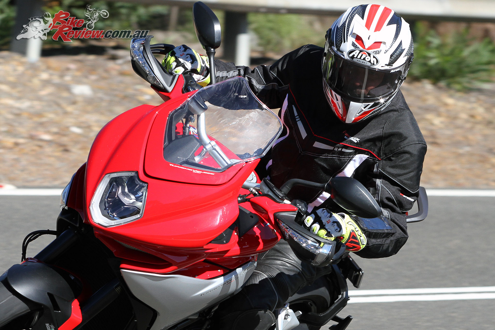 Five RFX1 Gloves on the MV Agusta Turismo Veloce Lusso