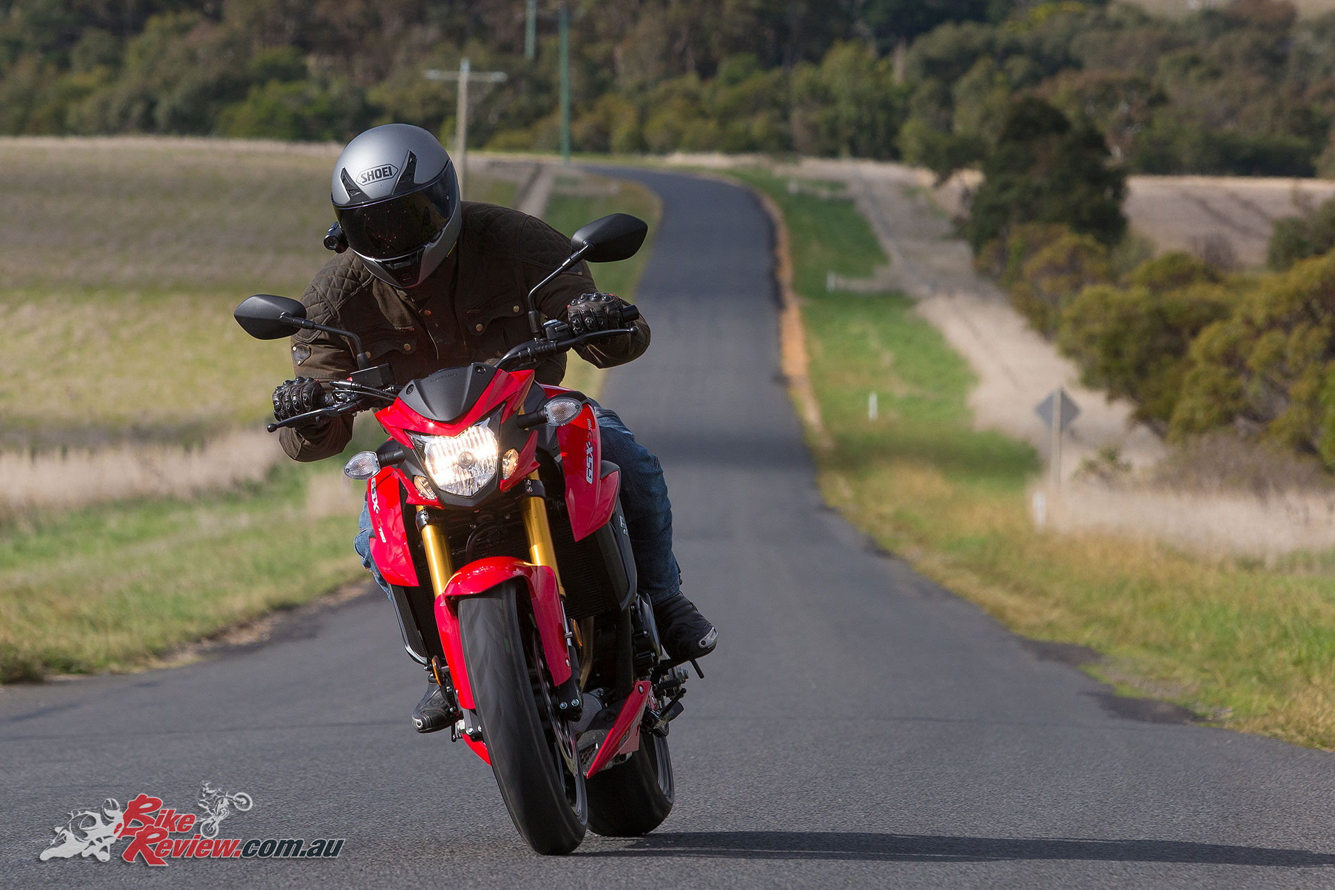 Rideability is great on the GSX-S750, with torque right from down low.