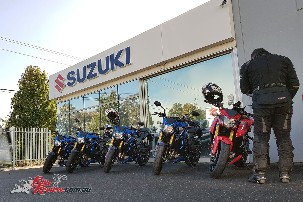 Suzuki's all new for 2017 GSX-S750.