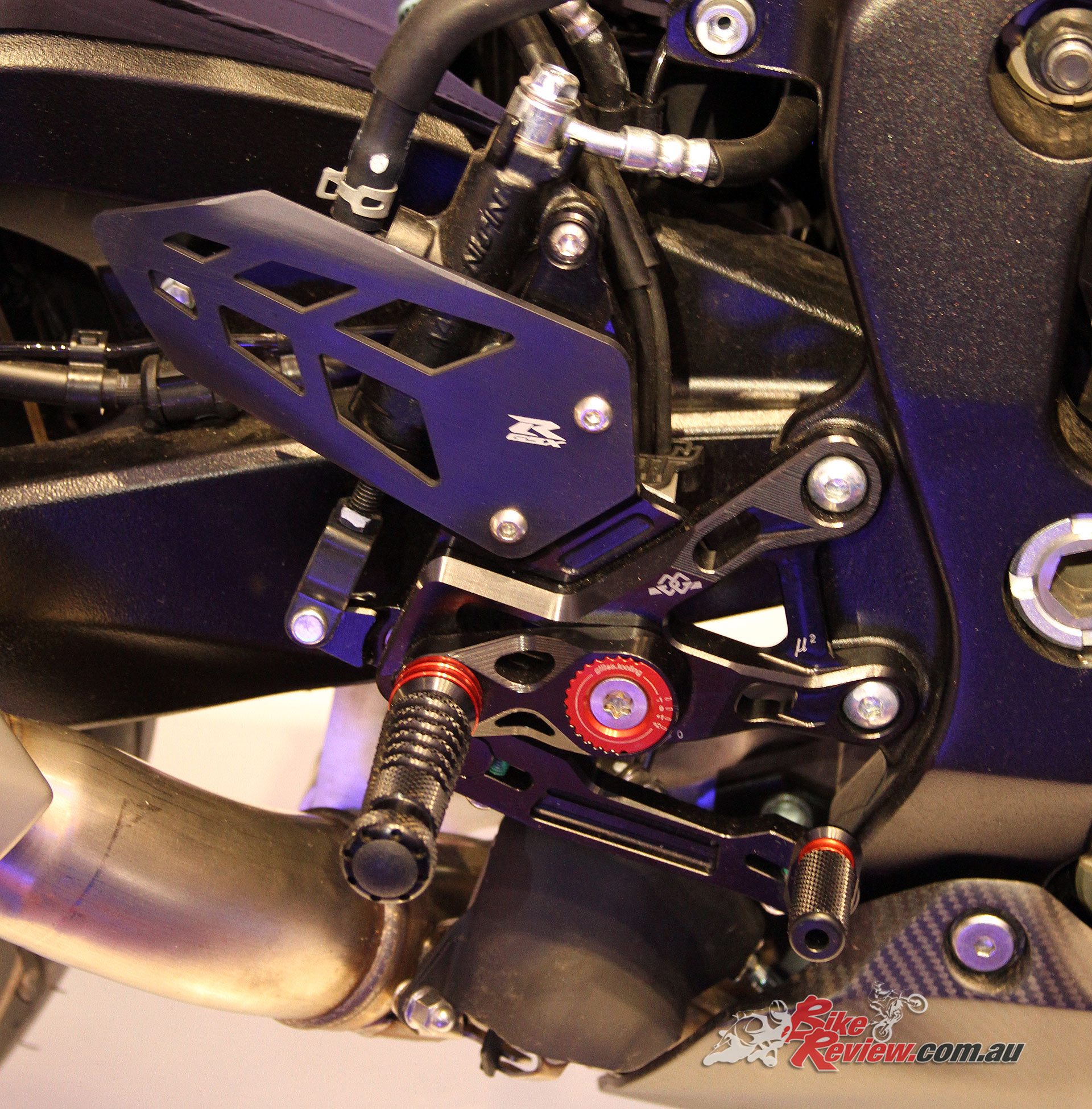 There was a whole range of GSX-R1000 accessories also on display in a kitted out machine, here are the billet rearsets
