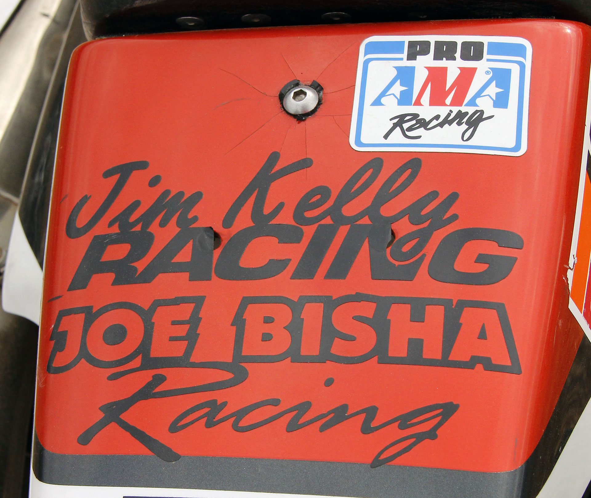 Pro AMA Racing and Jim Kelly Racing/Joe Bisha Racing stickers