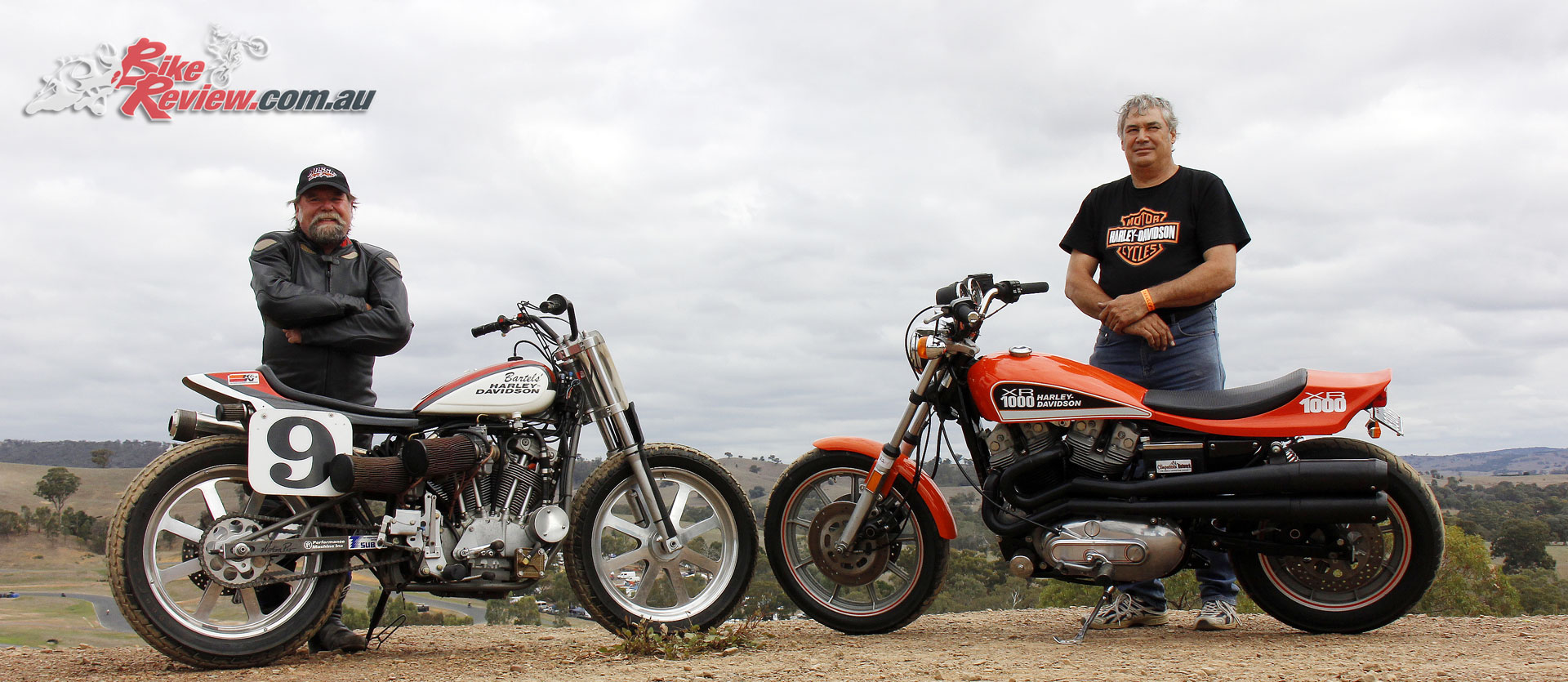 Eddy with his XR 750 Flat Tracker, and Les with his XR 1000