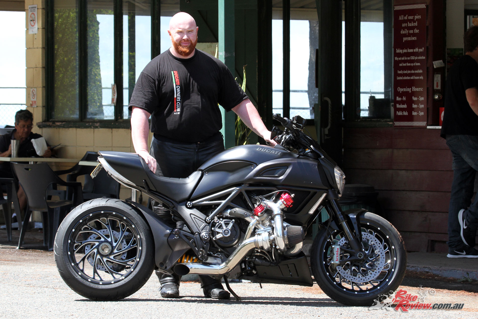 Blake and his turbo S7R Pro Turbo Ducati Diavel