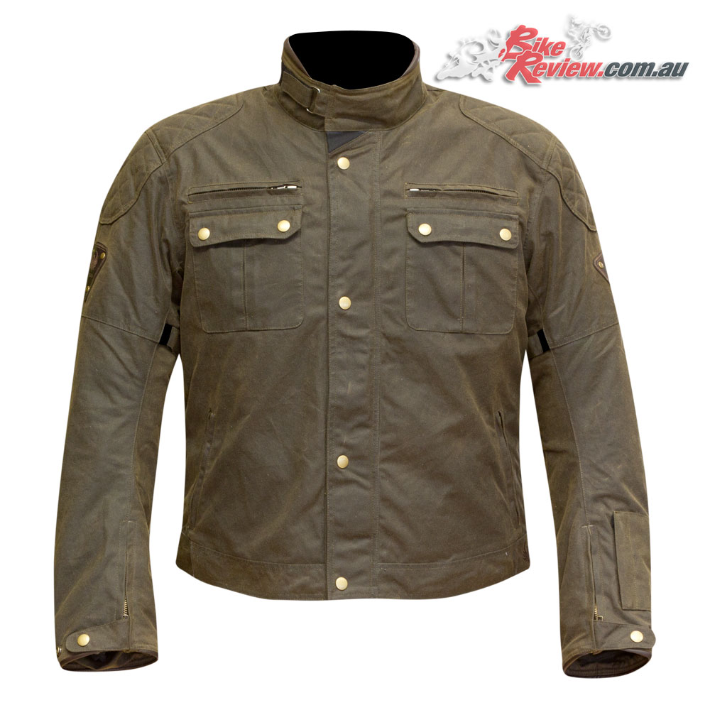 Merlin Sandon Waxed Cotton Jacker - Olive