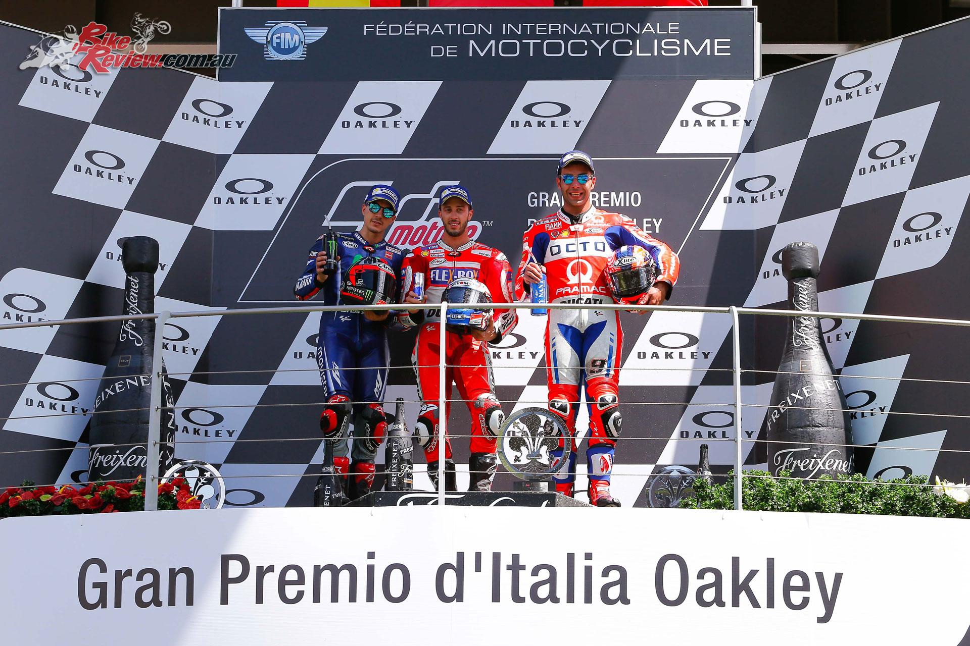 Mugello MotoGP Podium