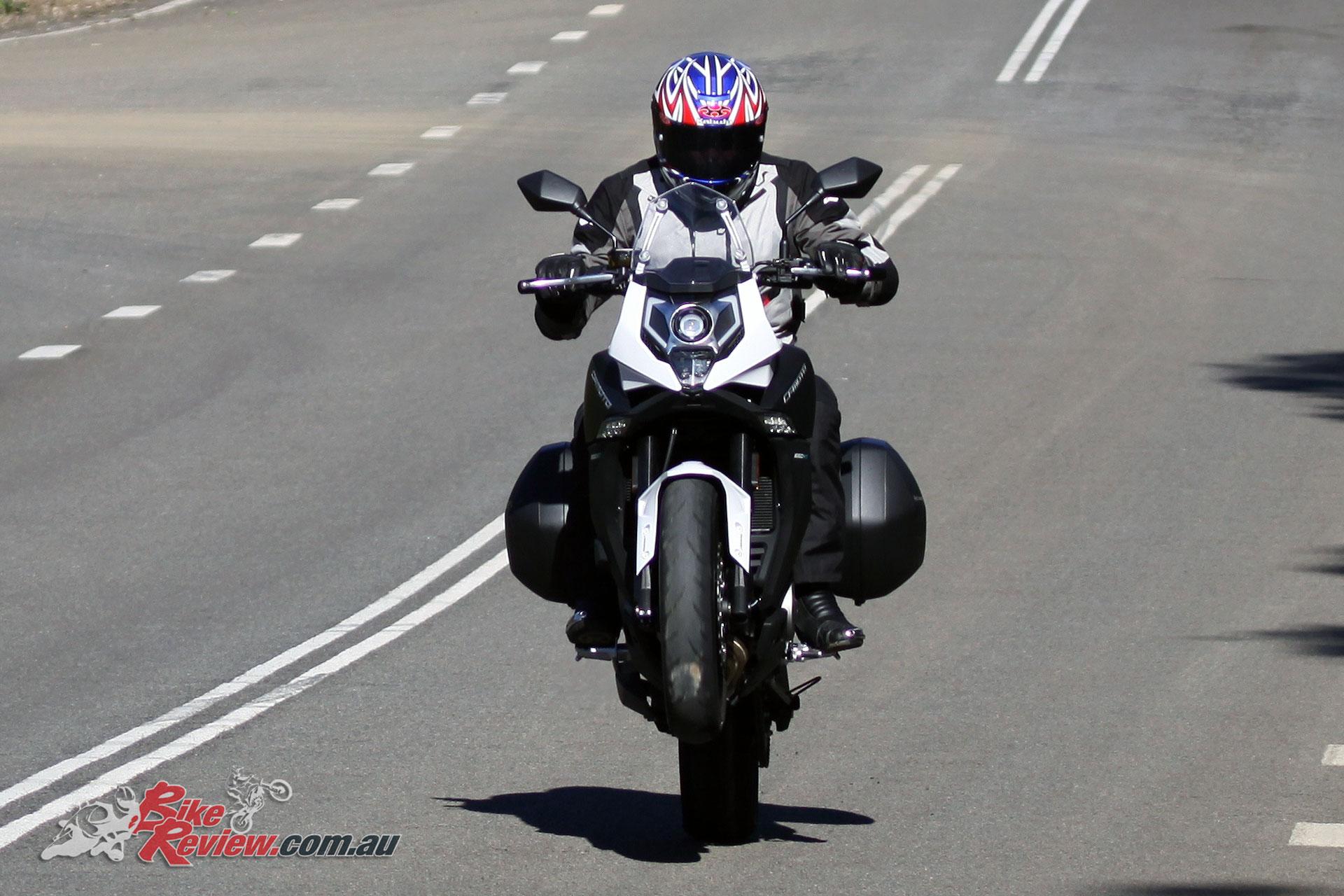 2017 CFMoto 650MT wheelie