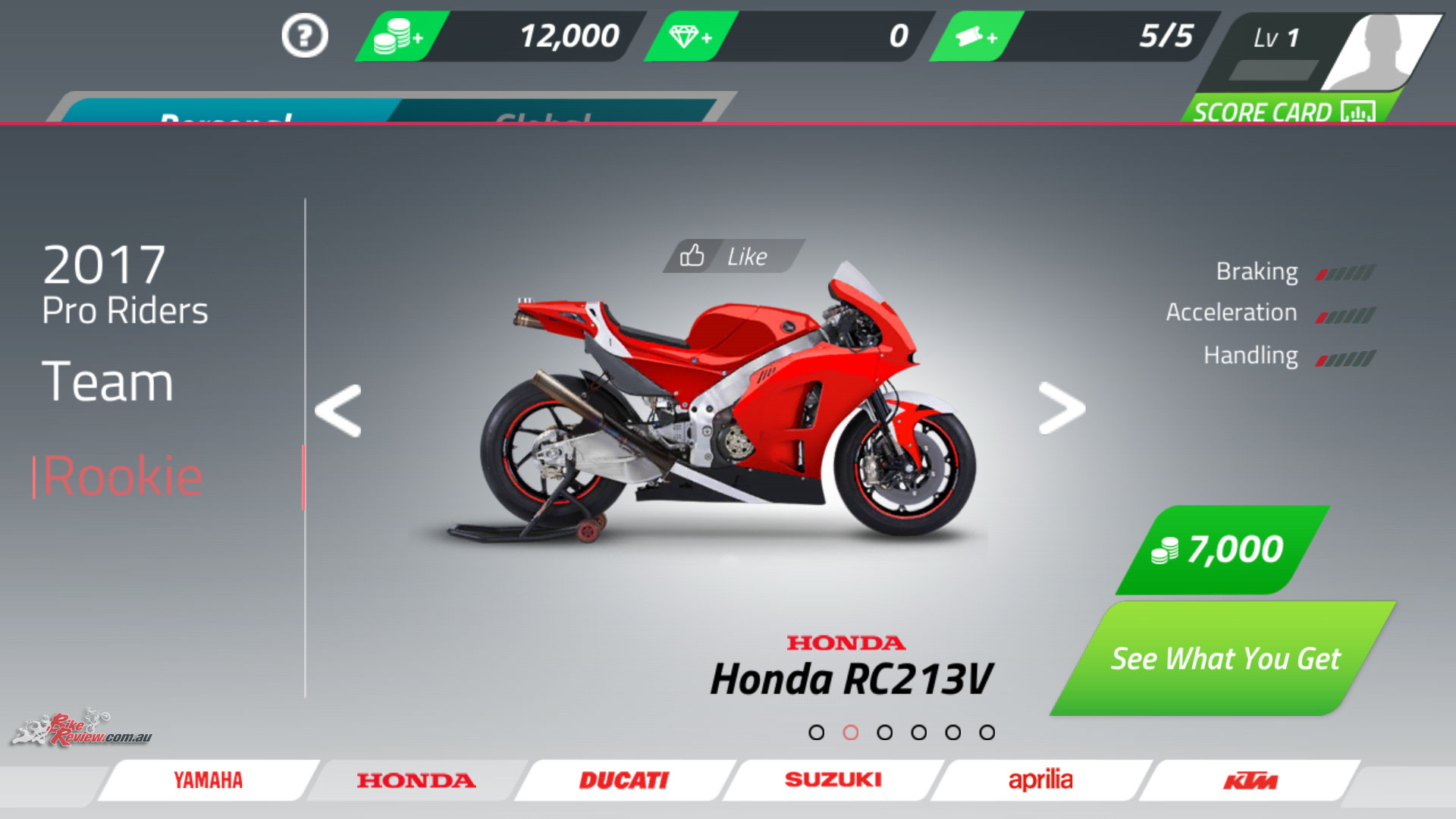 I picked the Honda RC213V