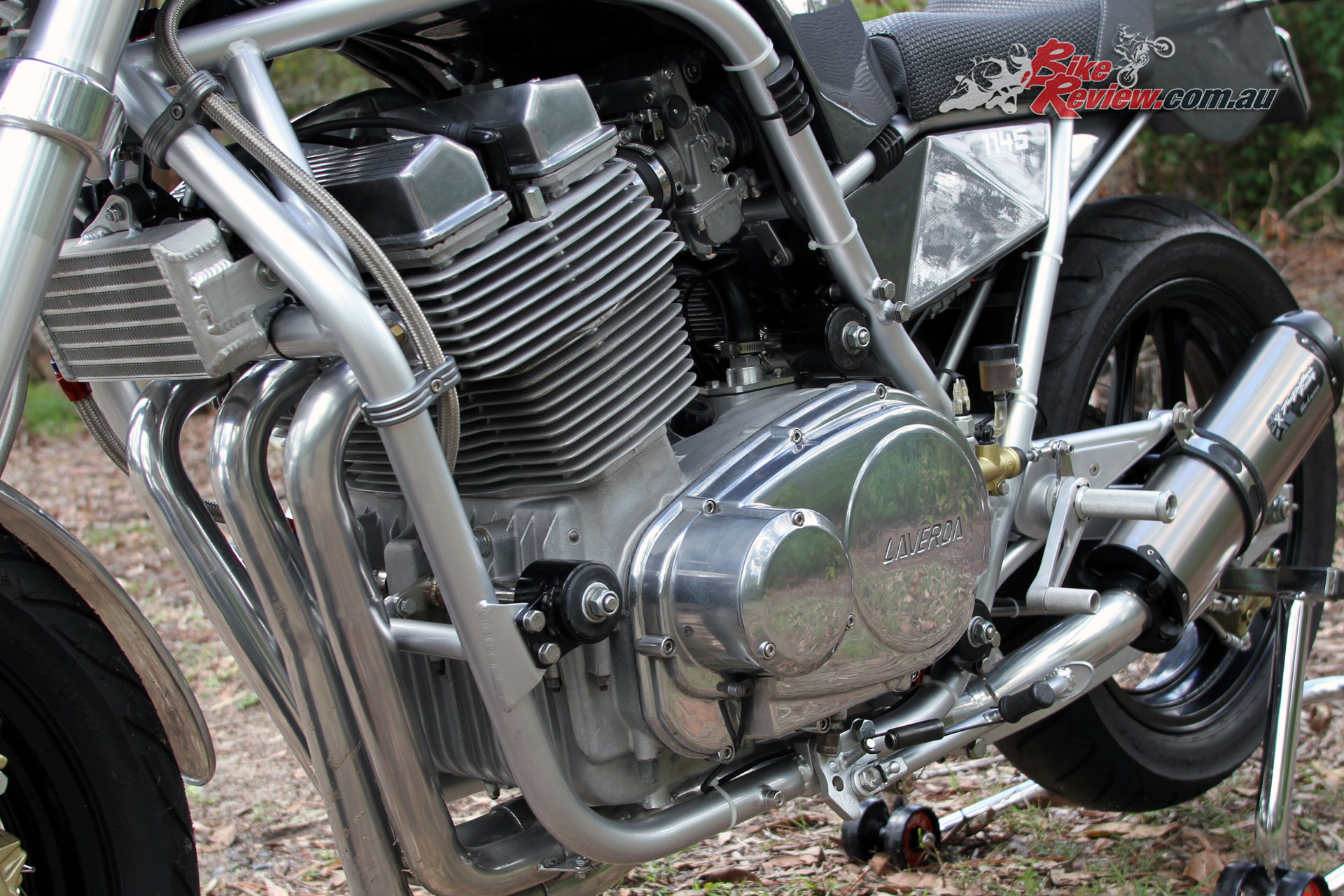 Having received the full Redax Laverda treatment the 1200 triple was putting out a modest 100hp during testing, before being tuned for full performance after run-in