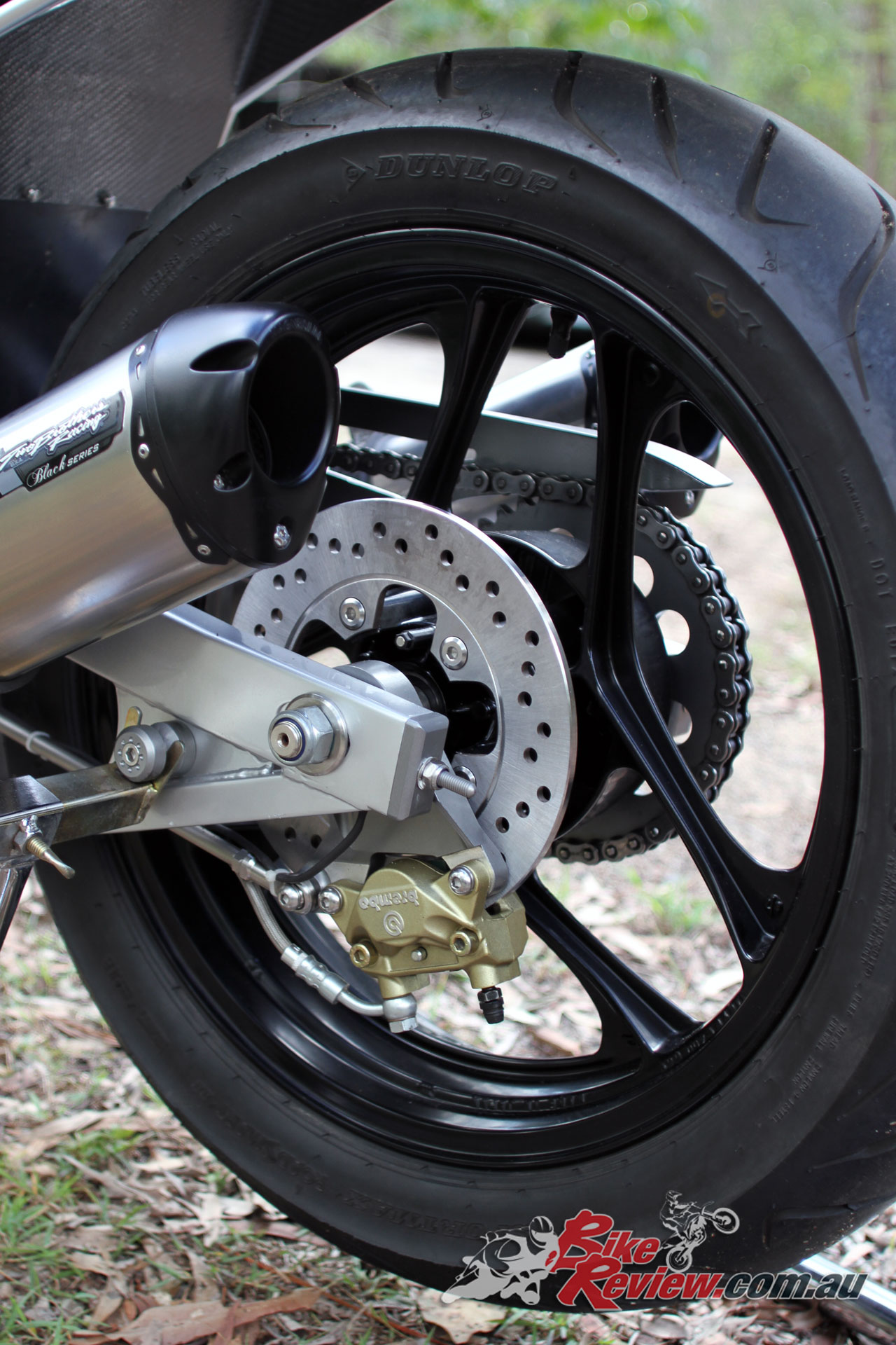 The Motodd kit originally included a swingarm, frame and bodywork, with this project starting just with the frame and swingarm