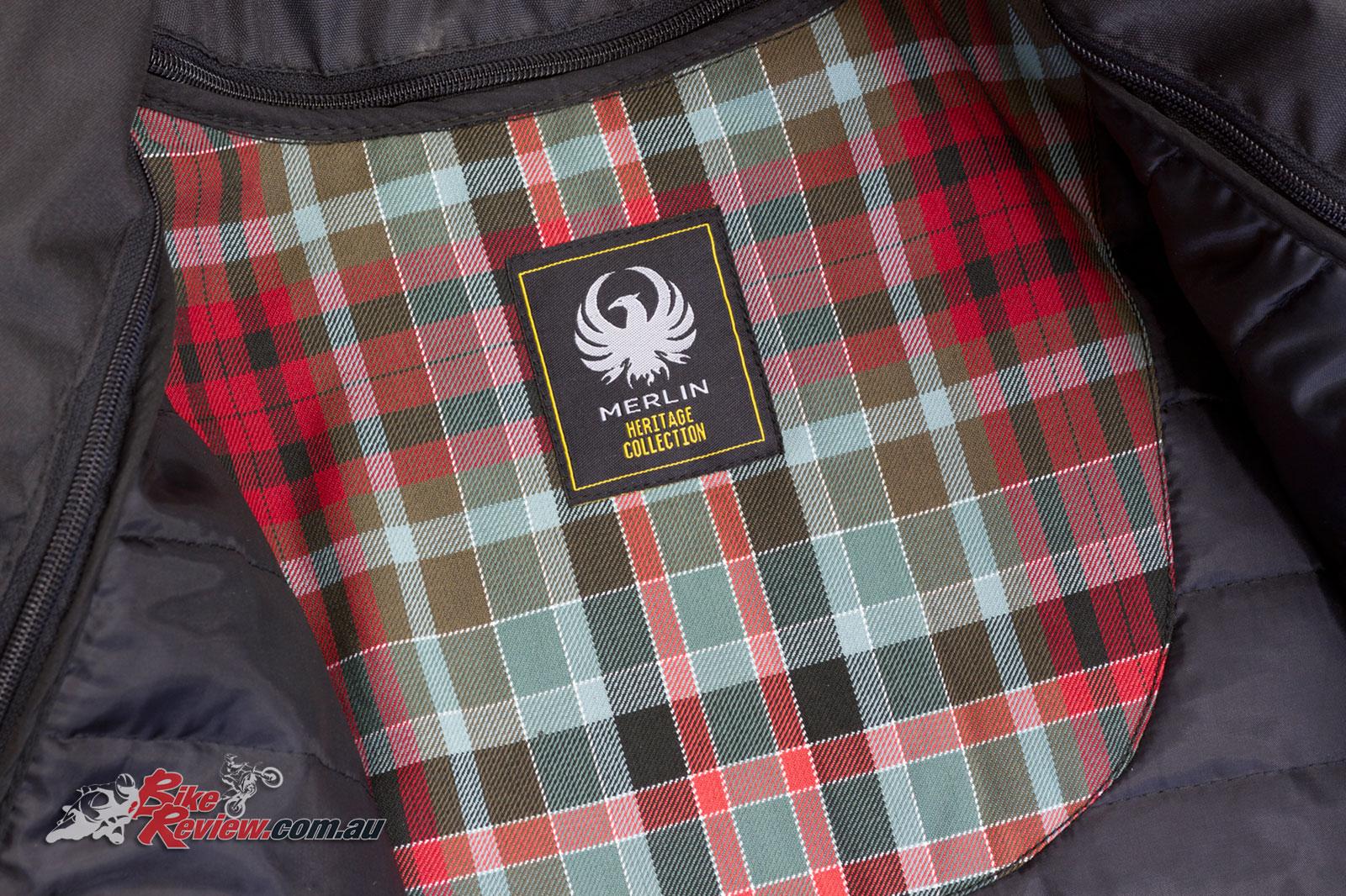 Merlin Hixon Leather Jacket with English Marton Mills tartan inner panels