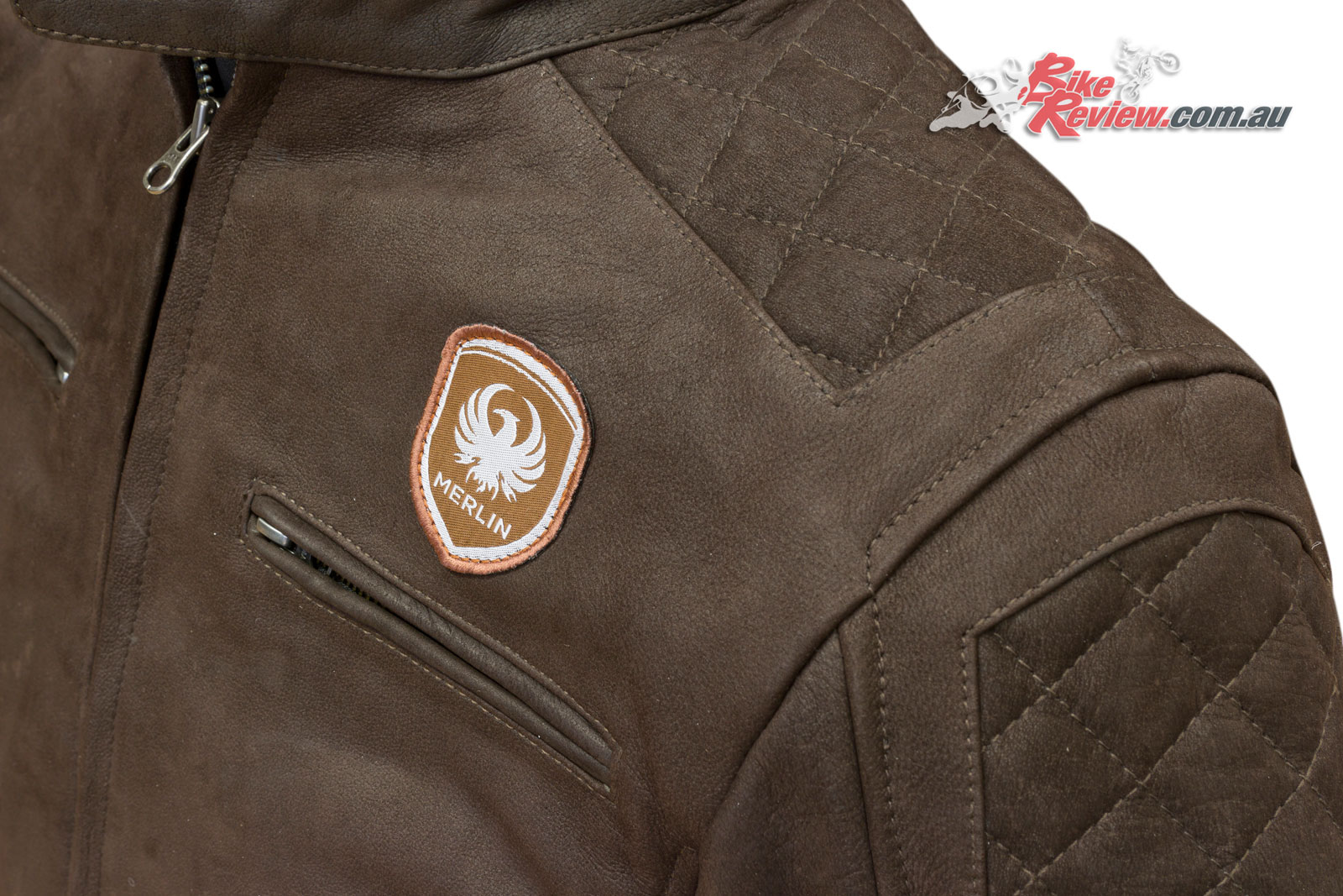 Merlin Hixon Leather Jacket shoulder stitching with CE armour