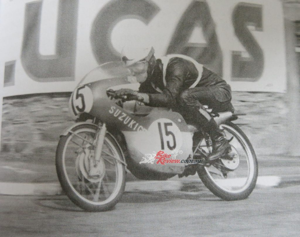 966 Isle of Man TT on the unreliable 50cc Suzuki GP racer.
