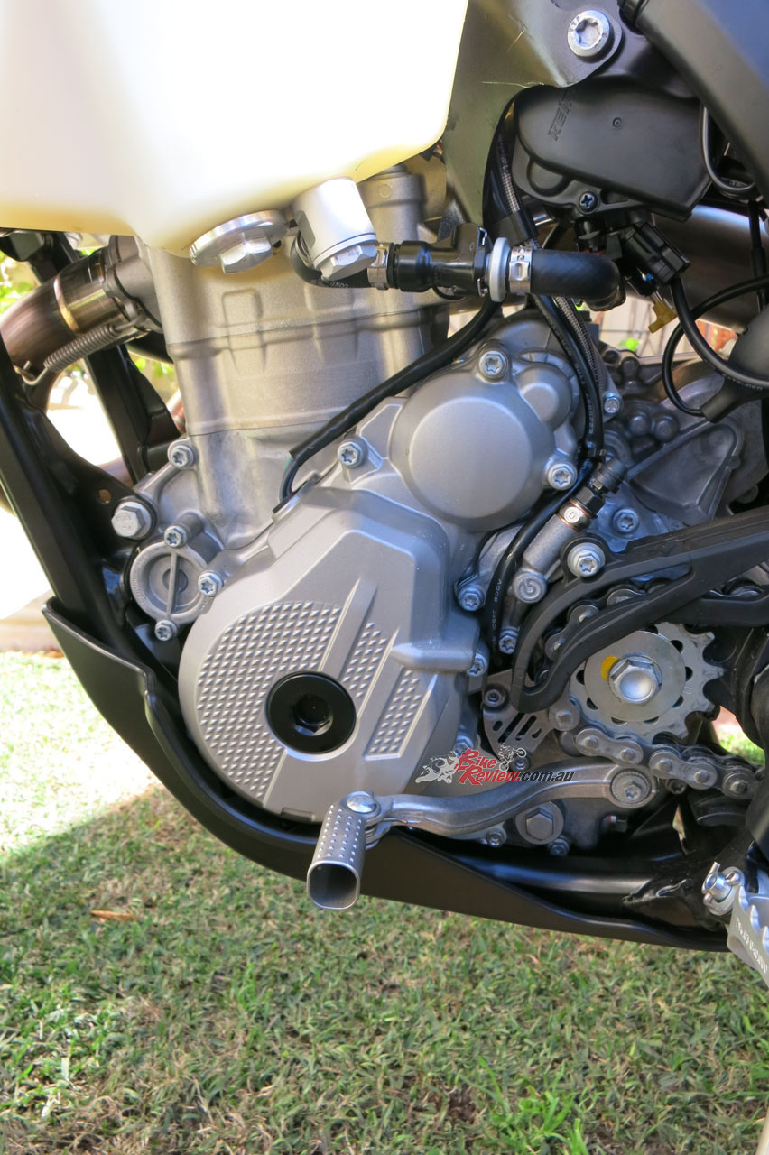 The 350 EXC-F's engine is strong for the capacity but could do with a non-standard pipe for some more character