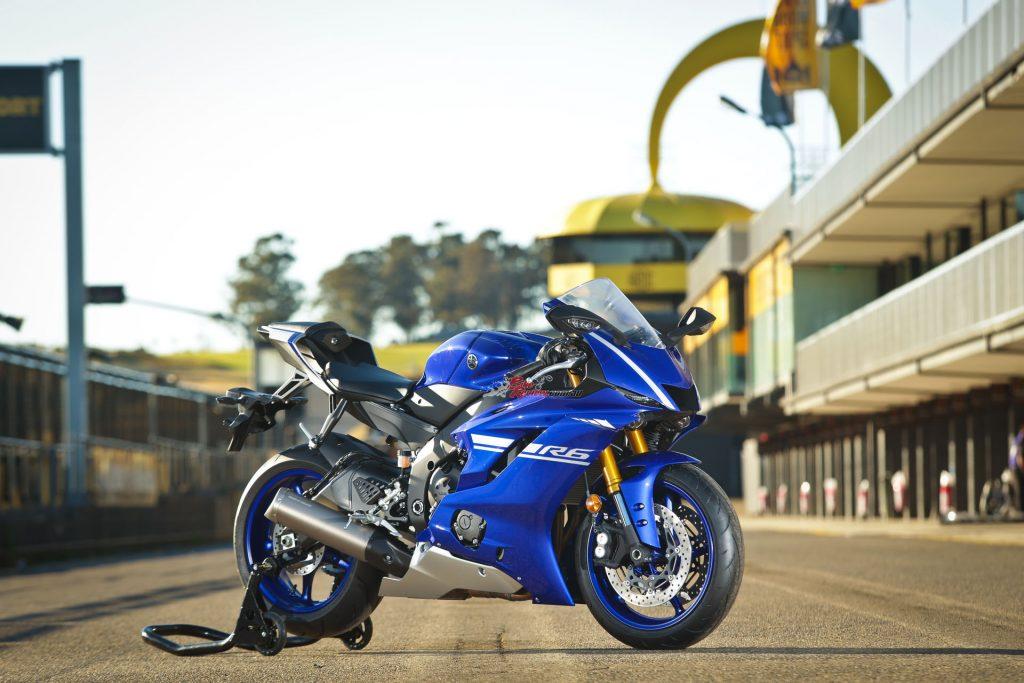 The 2017 Yamaha YZF-R6 shown here in Team Yamaha Blue