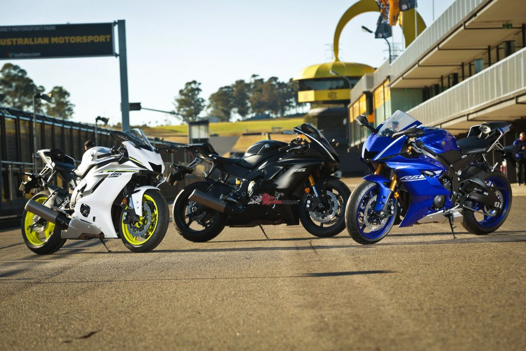 Costing $17,499 + ORC, the 2017 Yamaha YZF-R6 comes in Intensity White, Tech Black and Team Yamaha Blue and is available in dealers now.