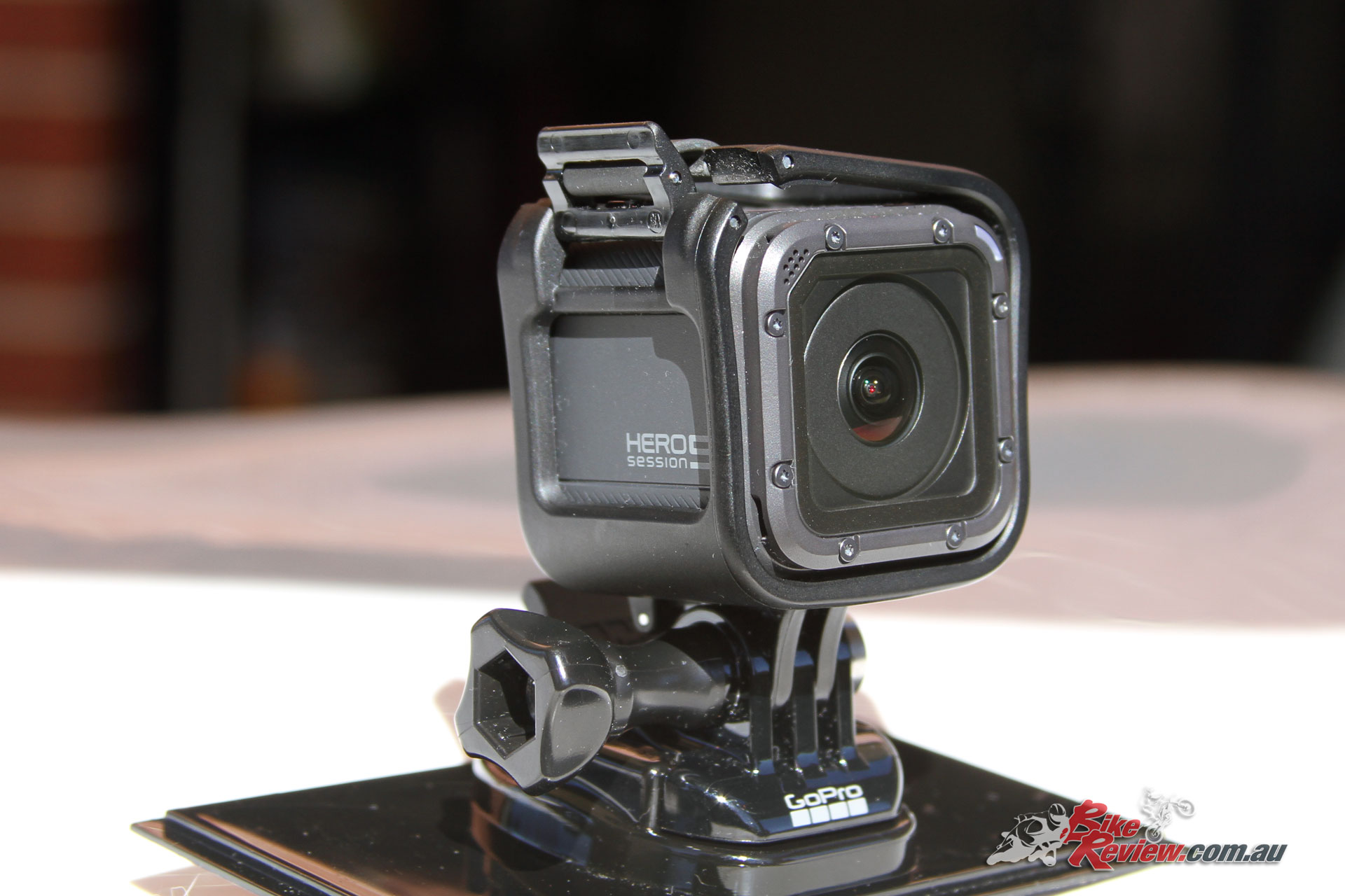 The Hero5 Session is tiny and the cradle doesn't add all that much bulk. It's easily pulled out or re-orientated in the cradle too.