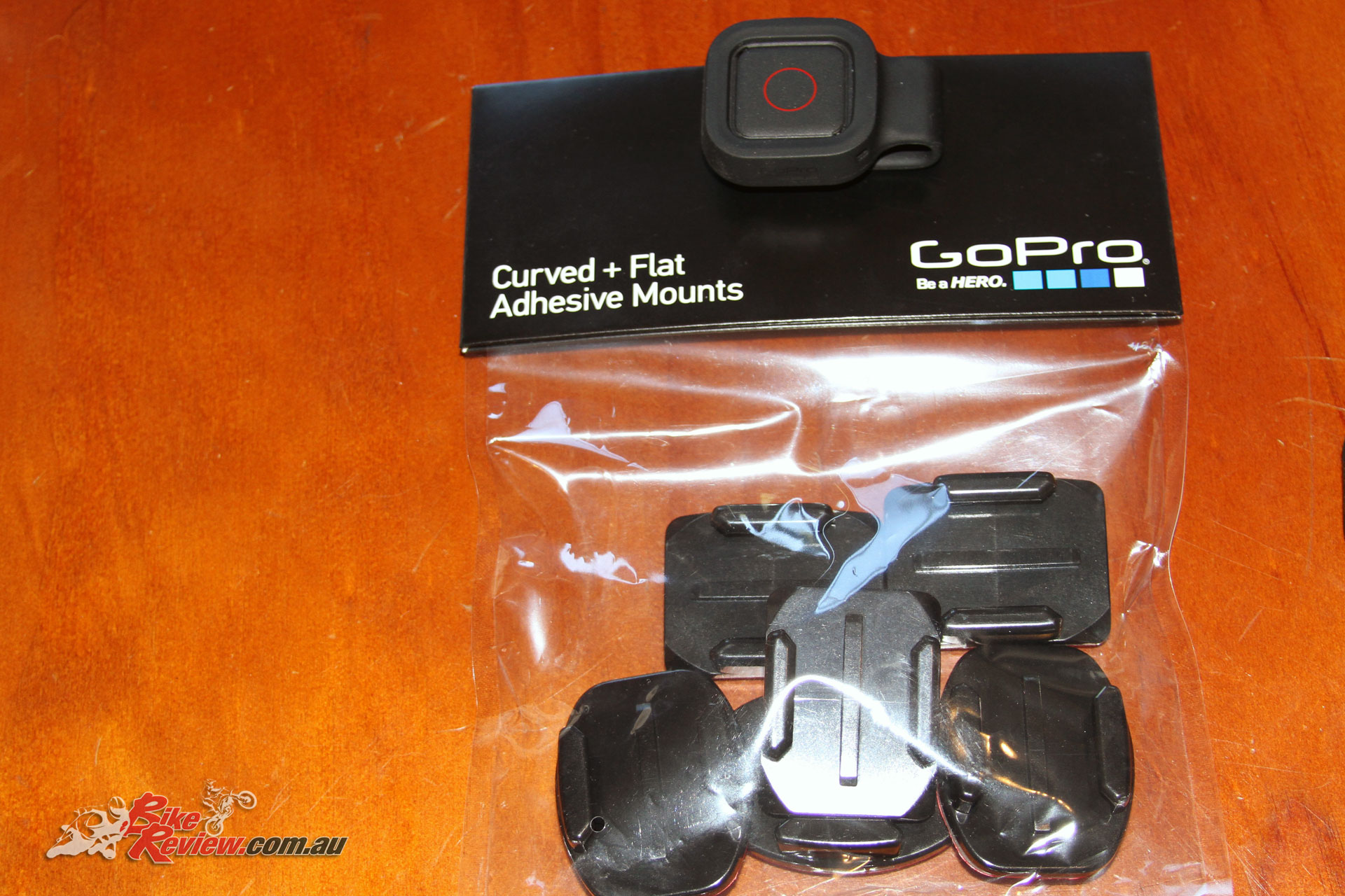 Adhesive mounts come in a flat and curved type, so you'll be able to stick the GoPro pretty much anywhere.