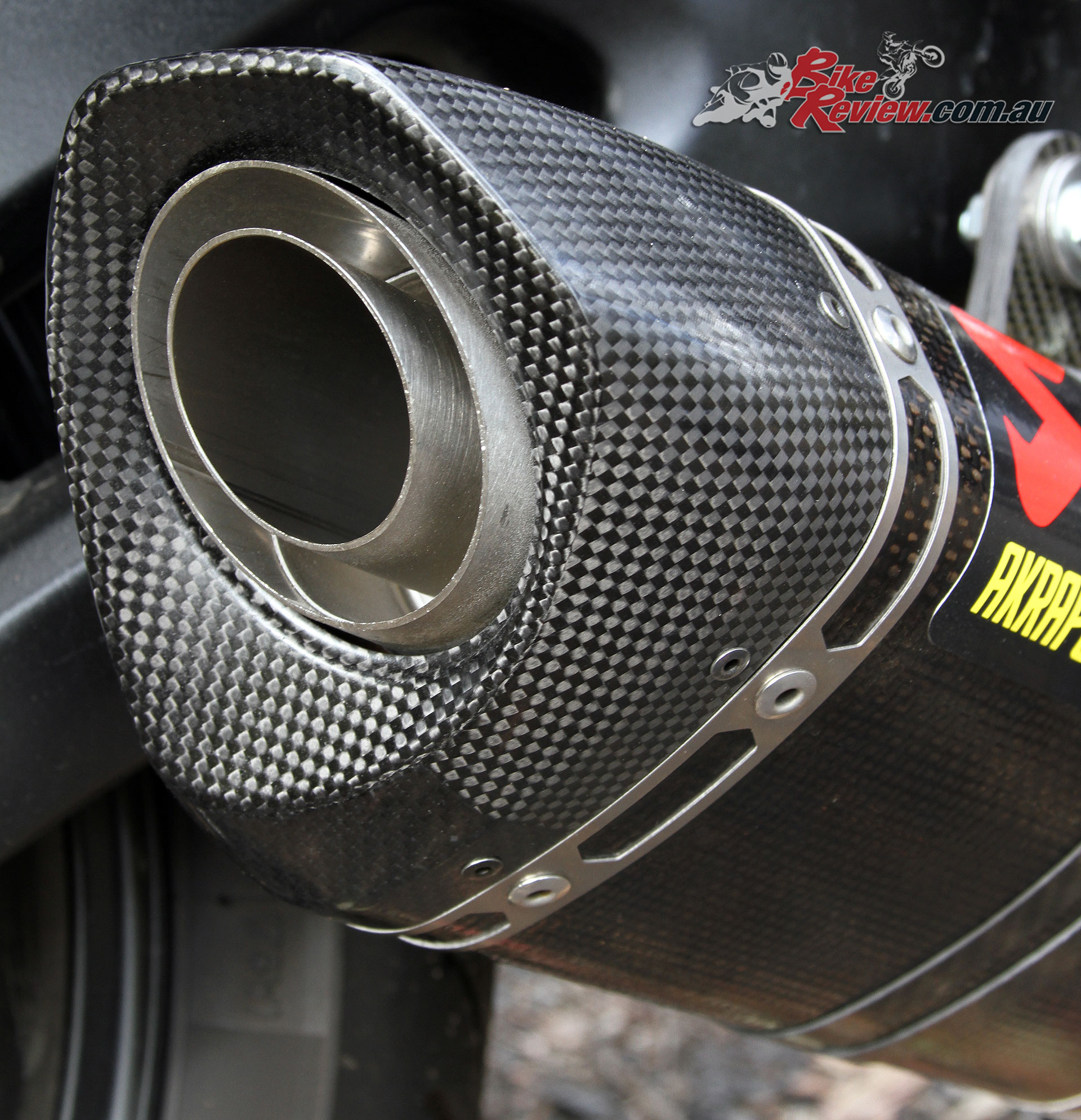 A removable bung is well integrated into the exhaust, for easy fitment and removal. We've left it in for now.