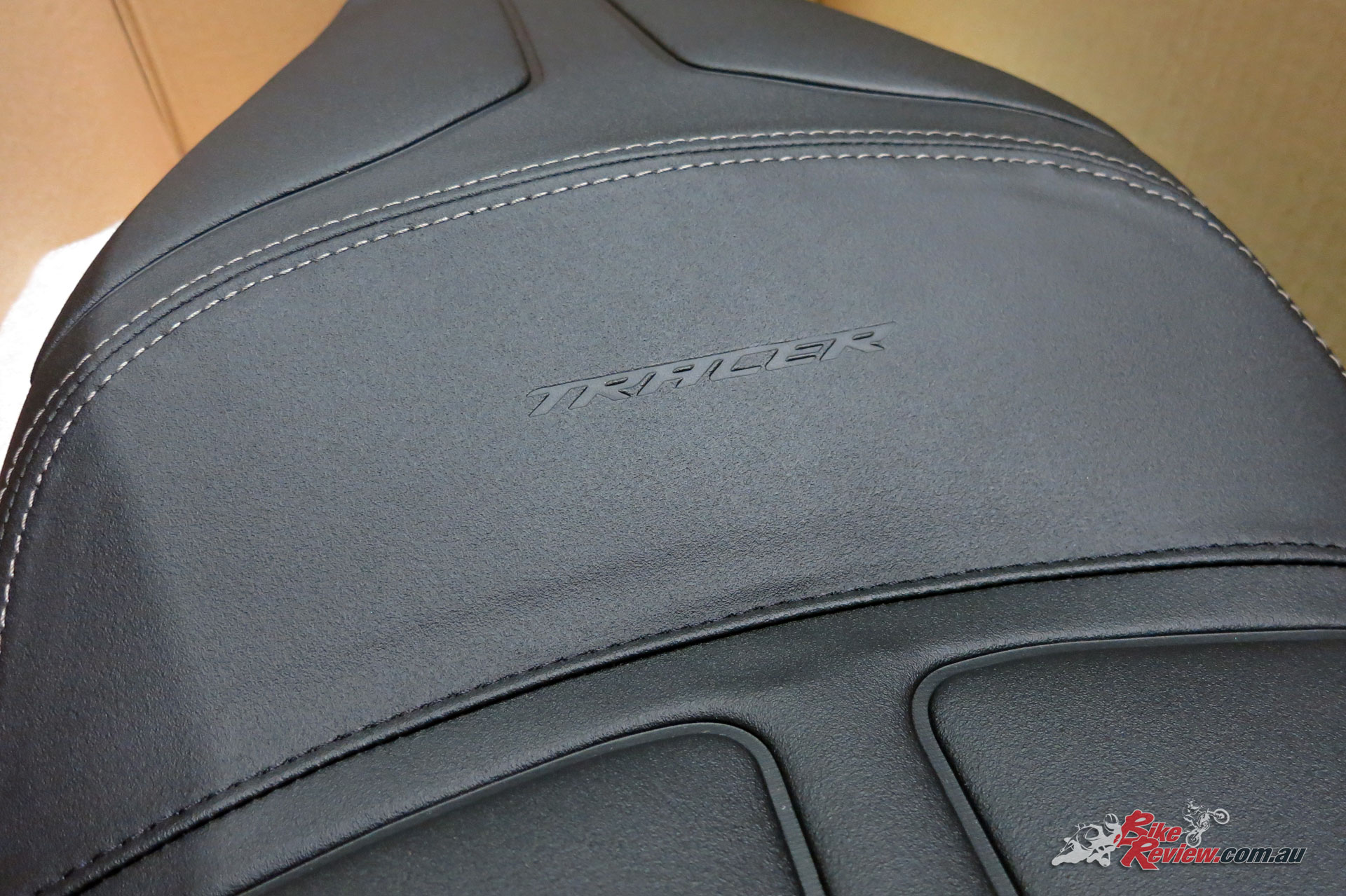 Tracer is also embossed across the seat, in a cool touch.