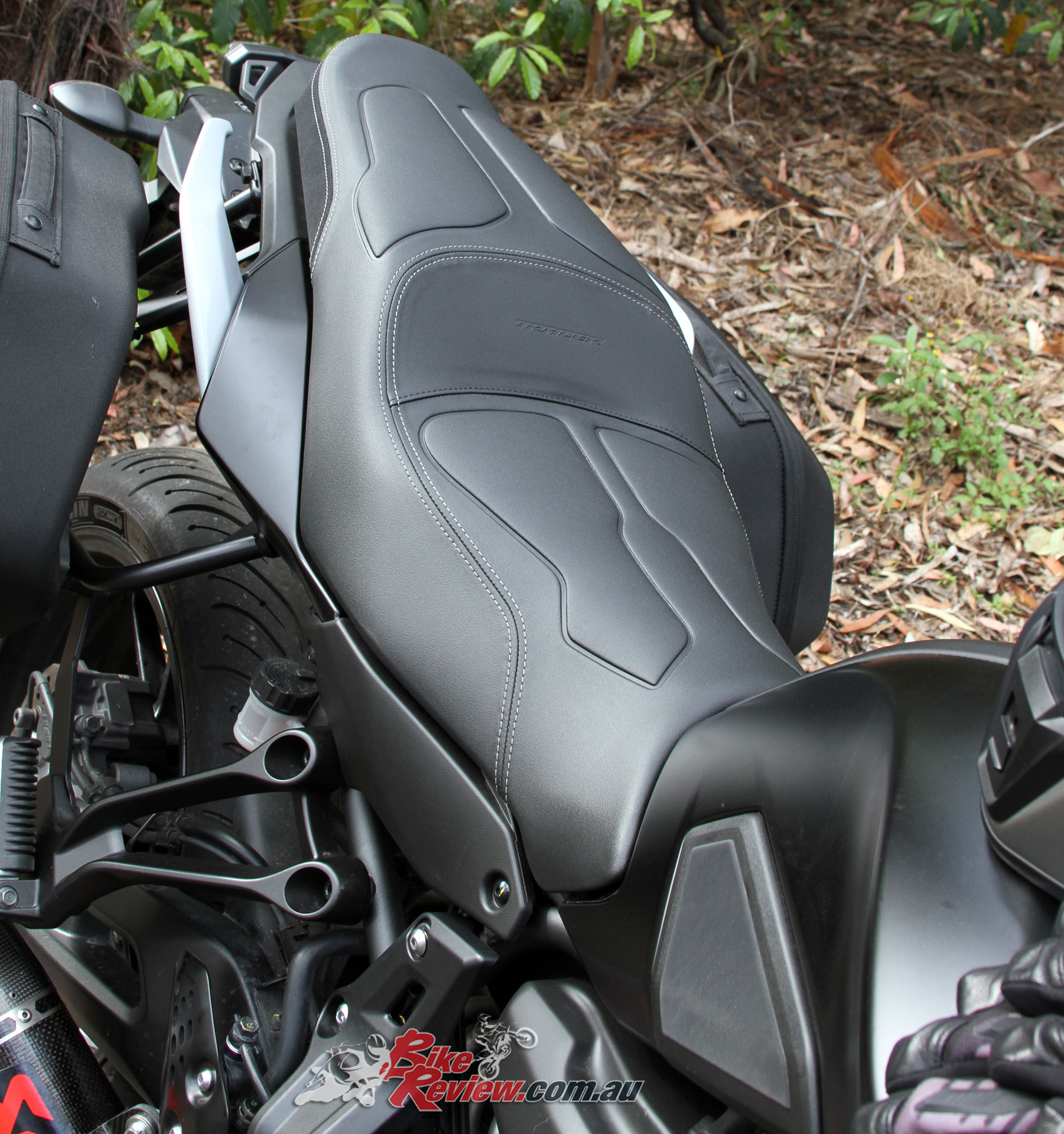 The Yamaha Comfort Seat fitted to the MT-07 Tracer