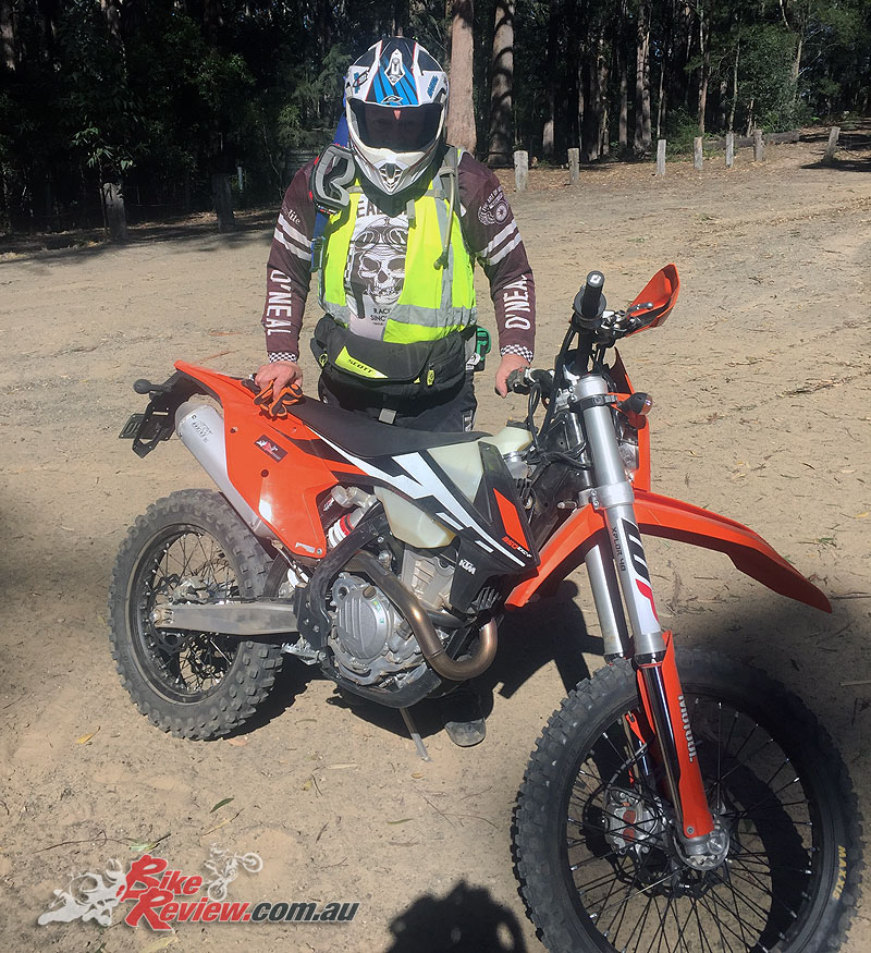 Mark with the 350 EXC-F at the Wattagans