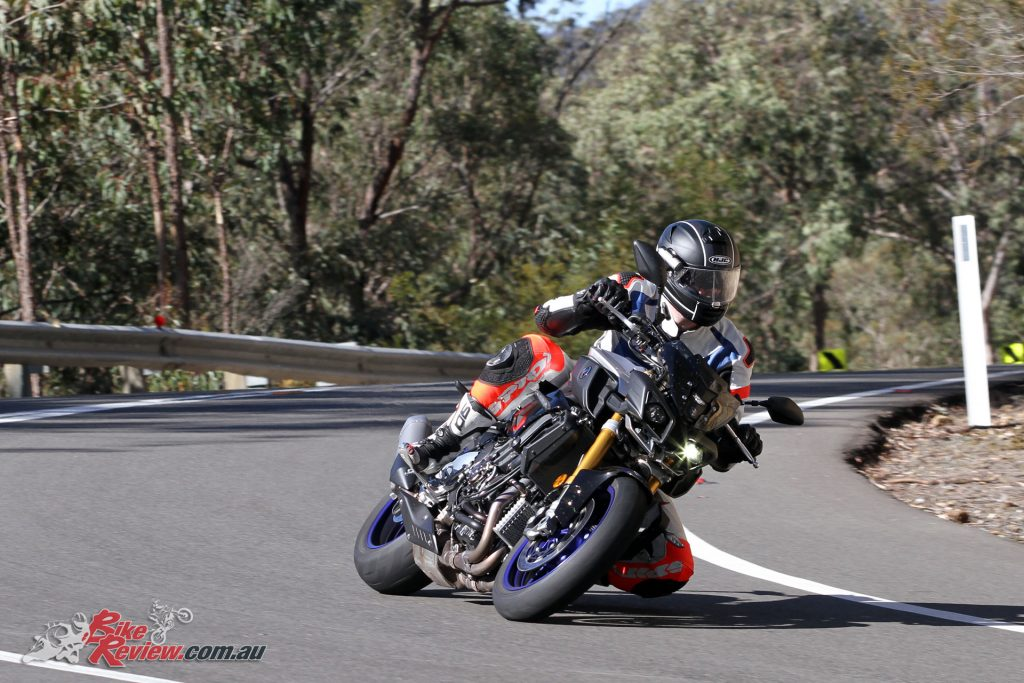 The 2017 Yamaha MT-10SP is fast and nimble in the twisties.