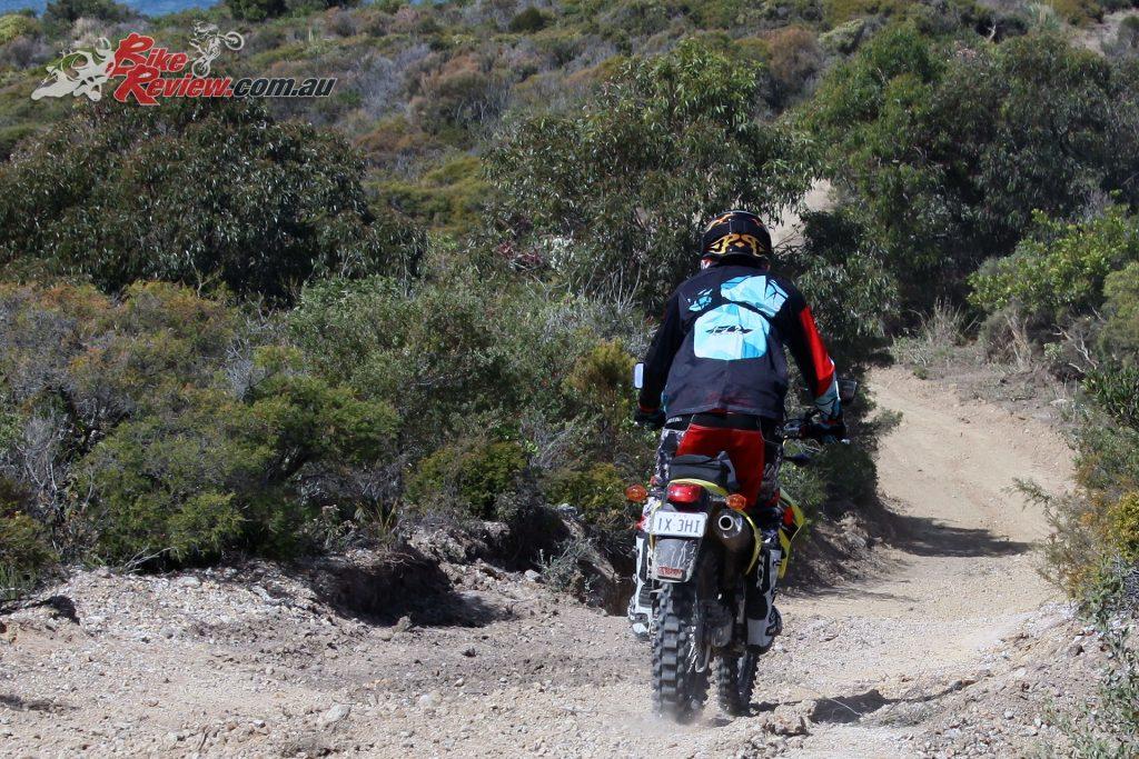 2018 Suzuki DR-Z400 off road downhill