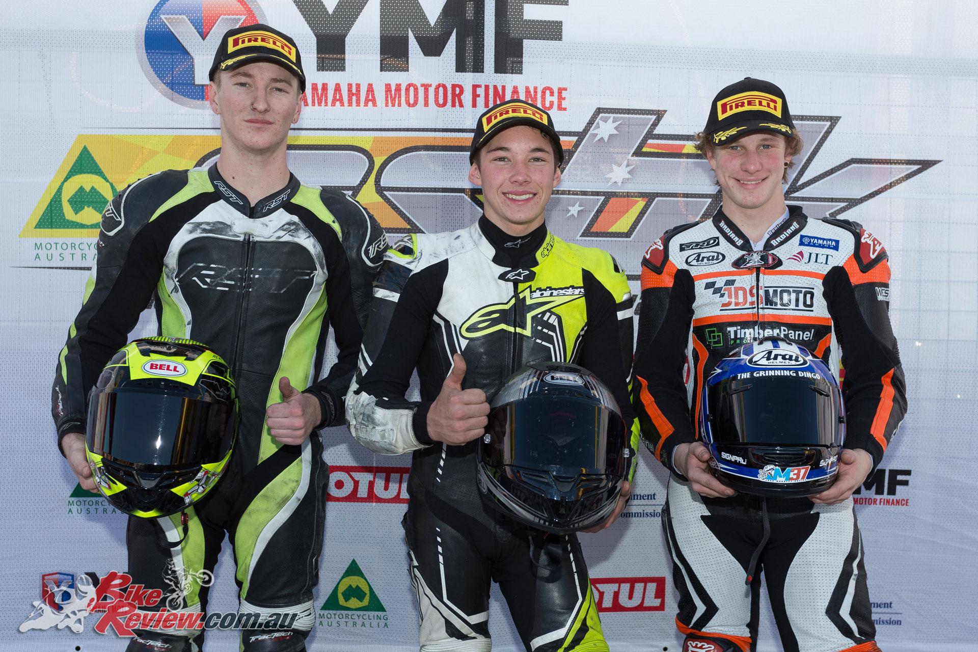 Edwards, Ford, Mahaffy, YMF R3 Cup Podium