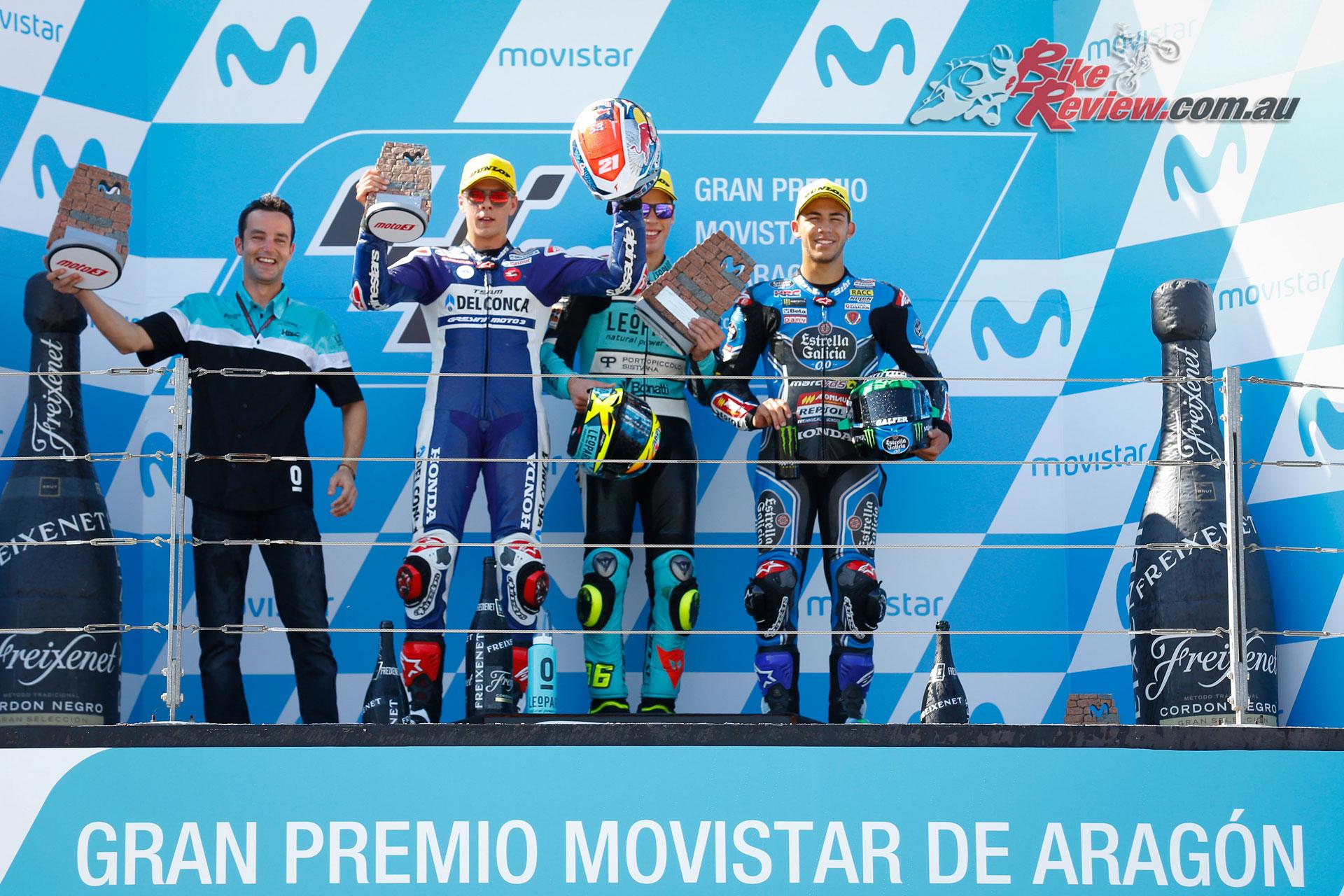 Moto3 Podium - Aragon 2017